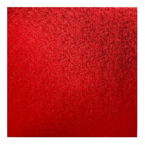 14'' (355mm) Cake Board Square Red